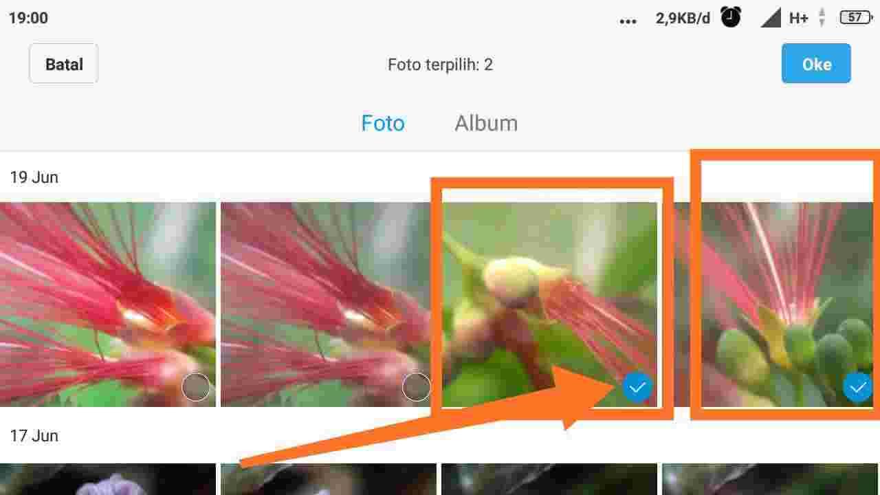 Cara mengirim foto lewat email dalam jumlah banyak