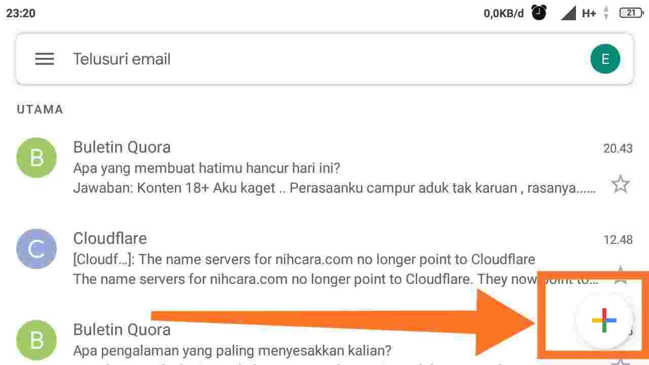 Cara mengirim email di HP subjek diisi apa