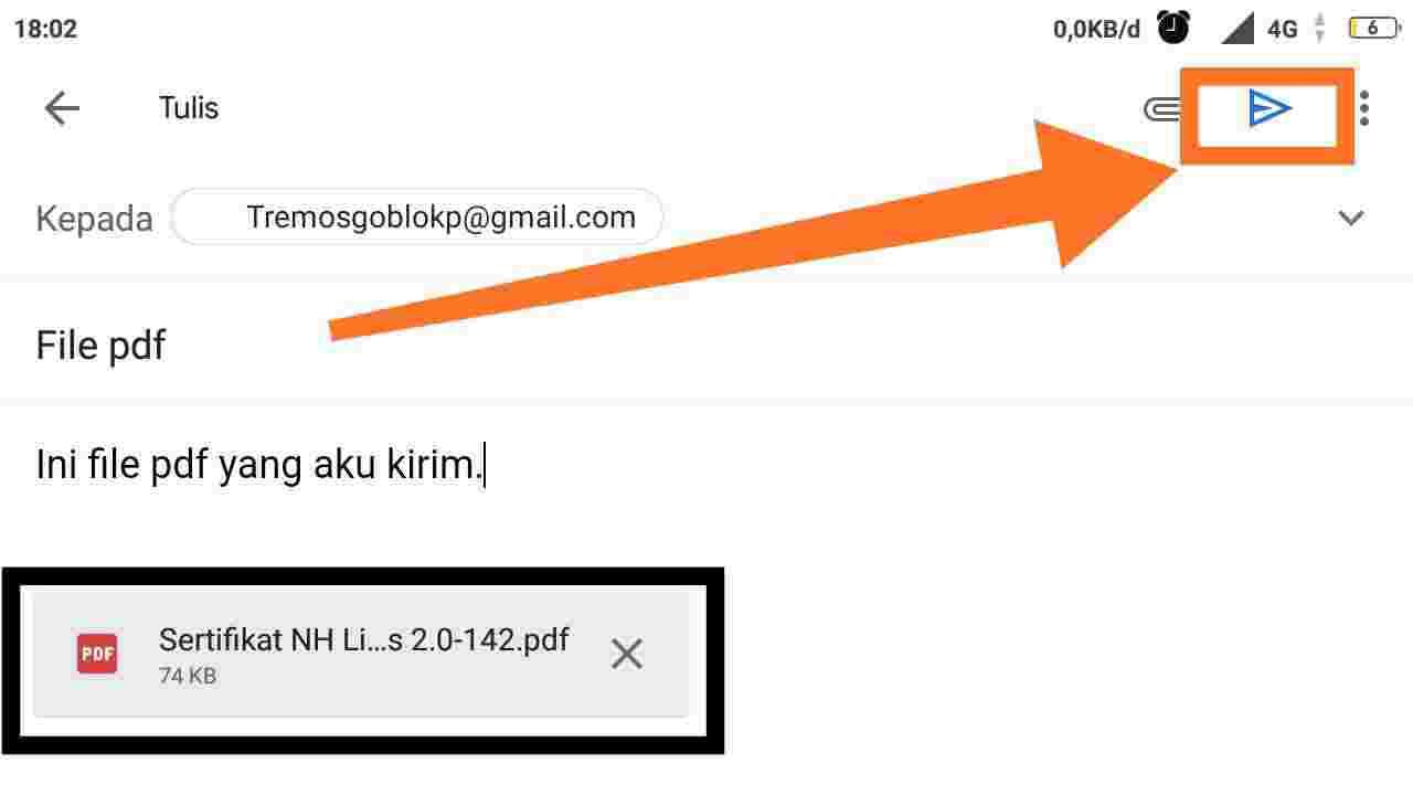 Cara mengirim file lewat Google Drive lewat HP