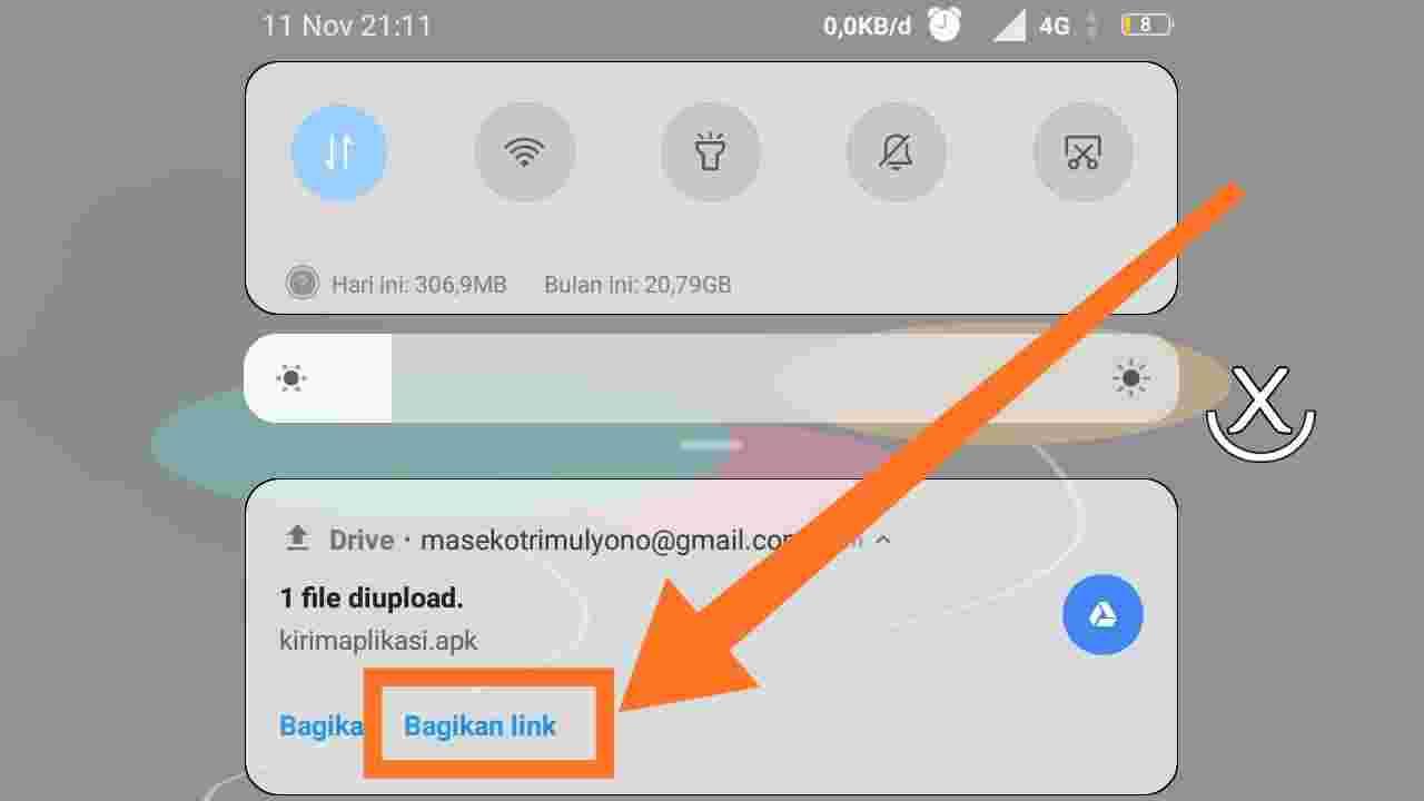 Cara kirim aplikasi lewat email