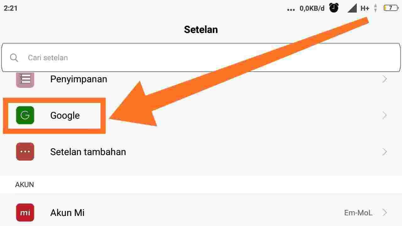 Cara Logout akun Google di Xiaomi MIUI 10