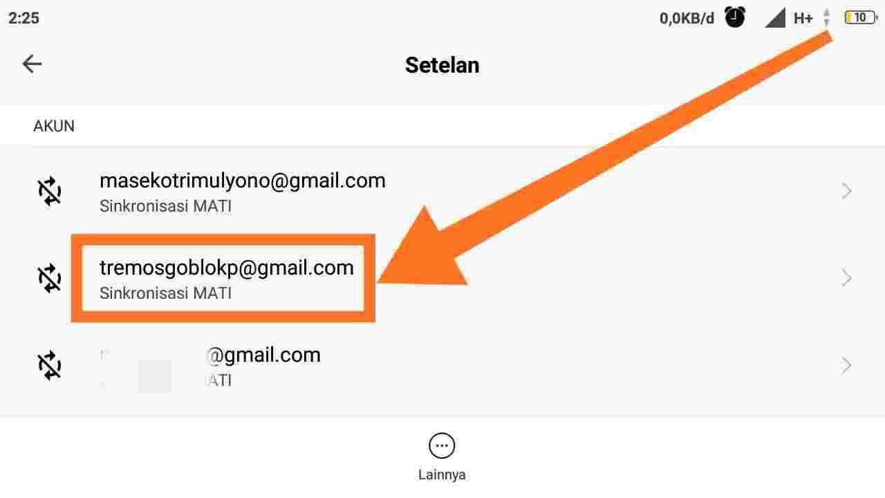 Cara logout Gmail di HP lain