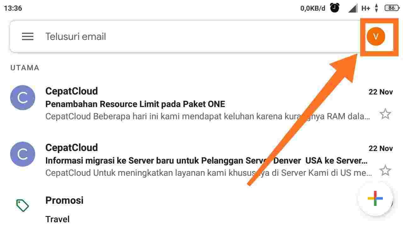 Cara mengganti nama email di HP Xiaomi