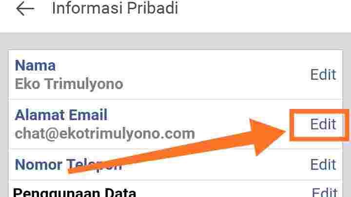Cara menghapus riwayat email Facebook di HP