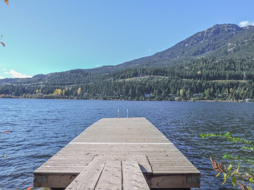 The dock off Blueberry Park trail in Whistler, BC