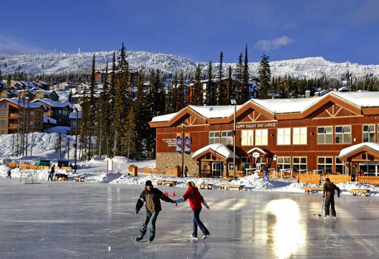 Big White Ski Resort ice skating.