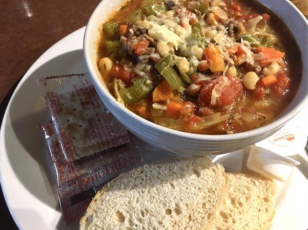Minestrone soup at Long John's Pub in SilverStar