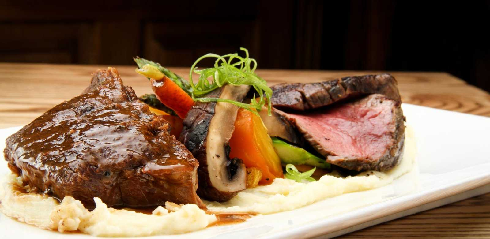 Delicious dinner at Birchwood Restaurant in Panorama, BC