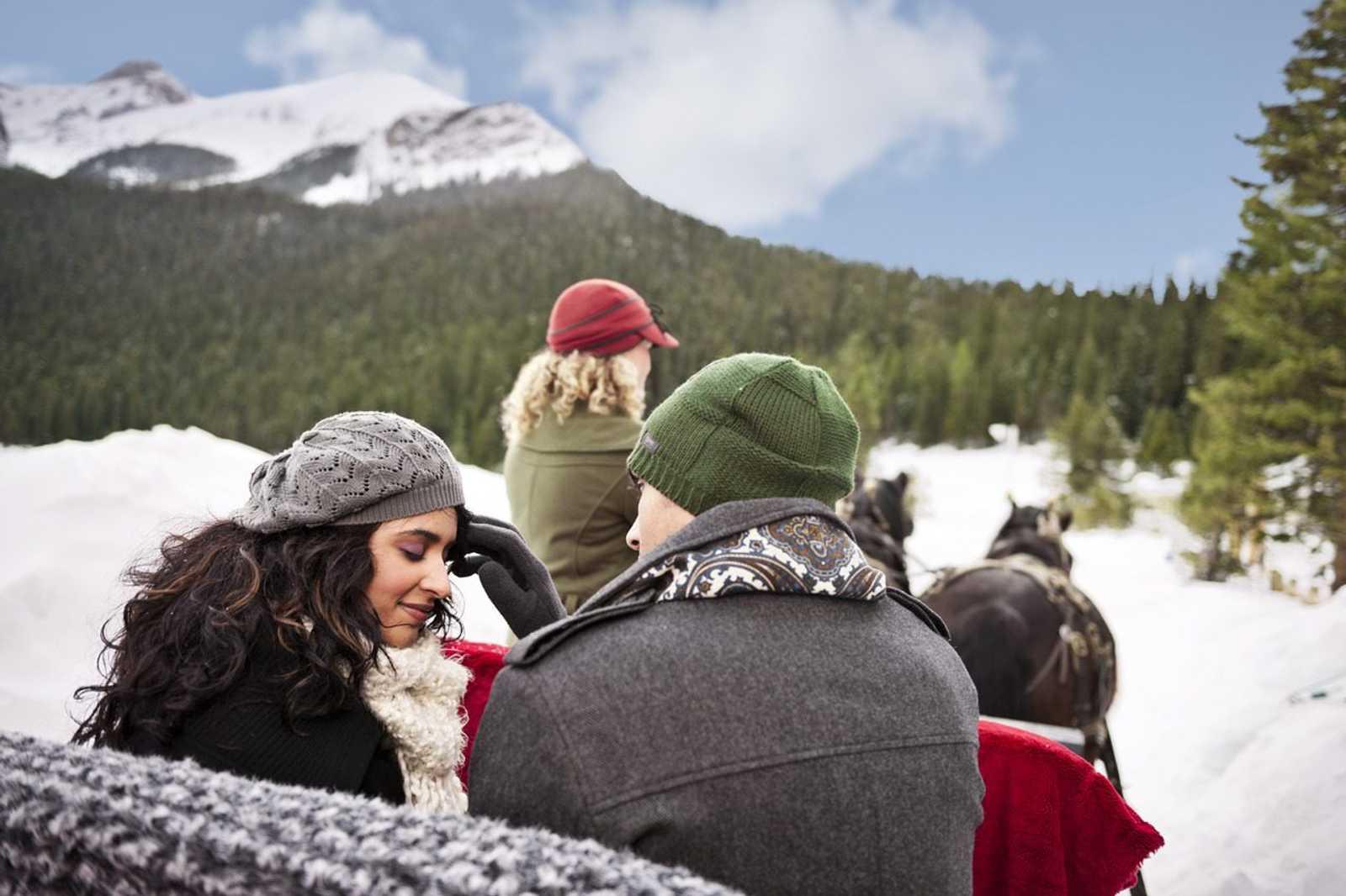 Romance Getaways in Canada - Sleigh Ride Lake Louise