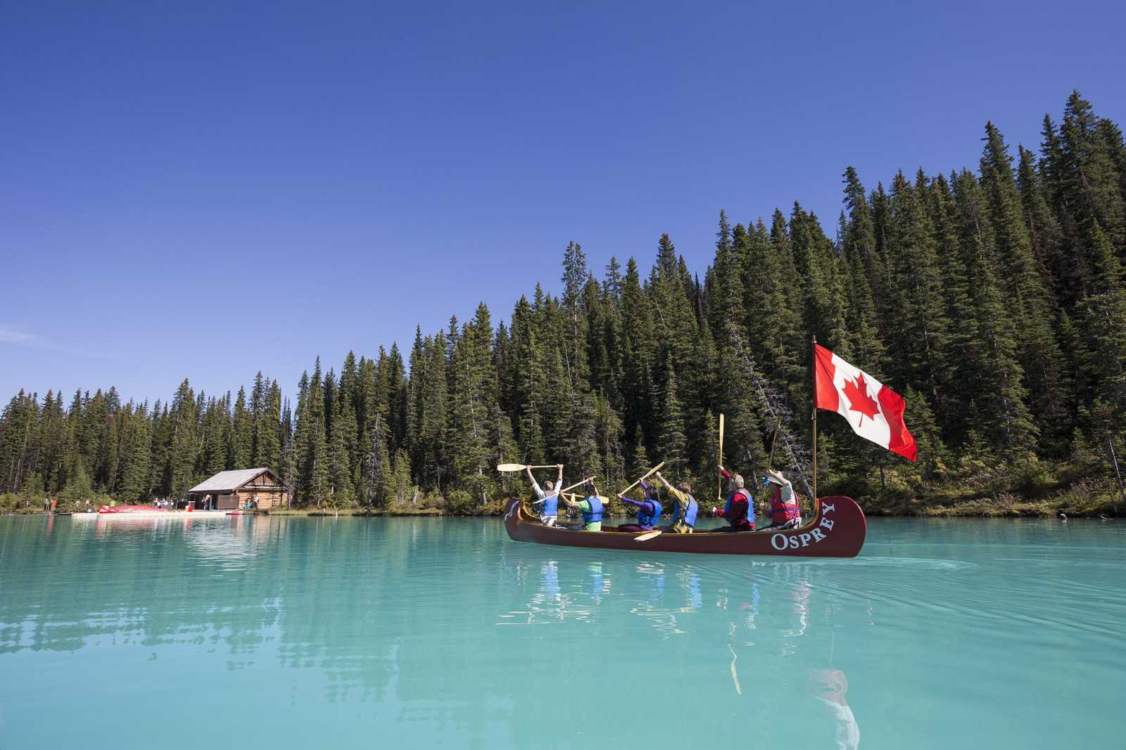 Celebrate Canadas 150! - boat with canadian flag