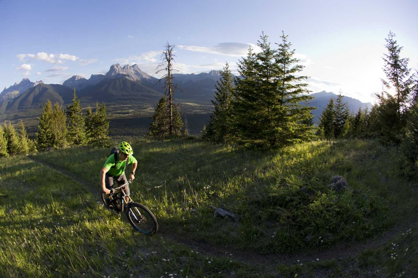 Mountain Biking in Canmore - Biker