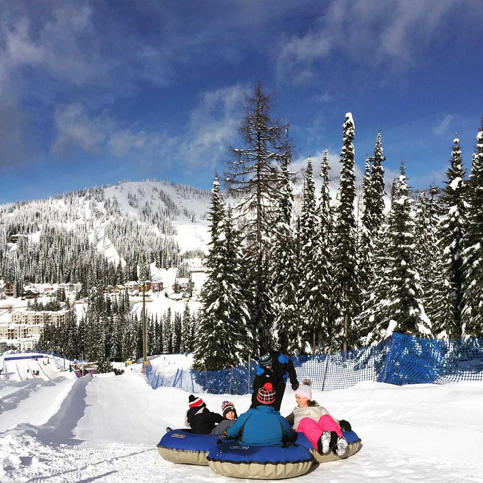 Tubing at SilverStar Mountain Resort