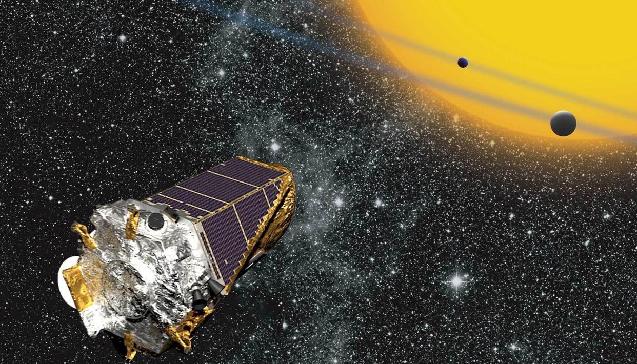 Artist's impression of the Kepler space telescope. (Source: nasa.gov)
