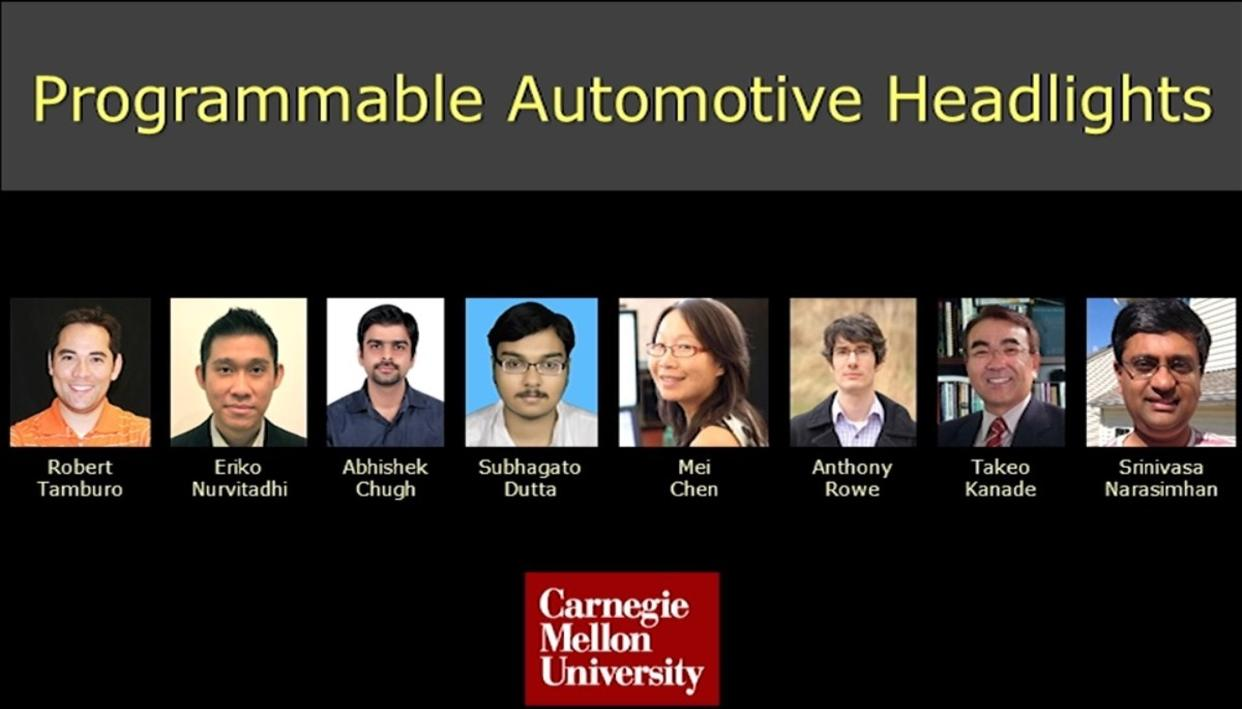 The team that worked on the smart headlight system. (Source: cmu.edu)