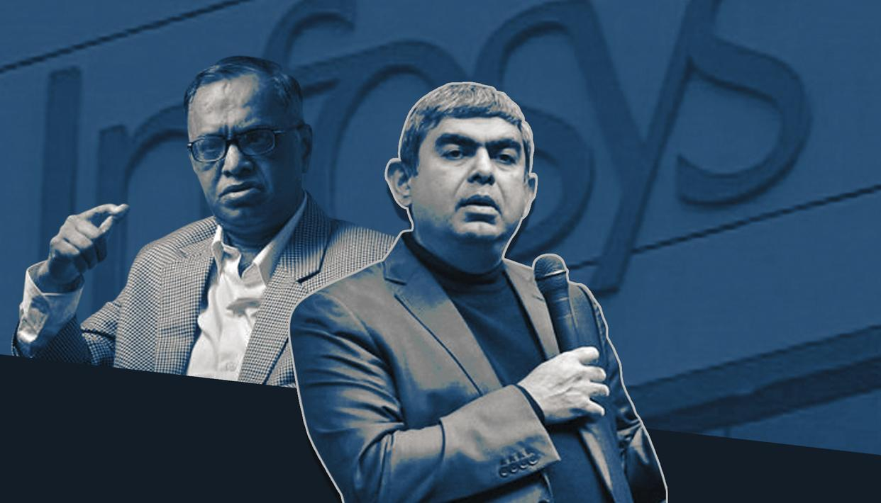 Infosys co-founder and Chairman Emeritus Narayana Murthy and former-CEO/current-Executive vice-Chairman Vishal Sikka