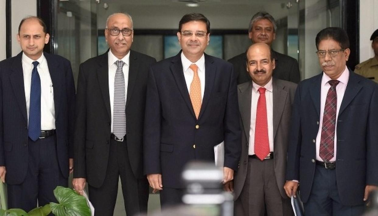 RBI Governor Urjit Patel (In the middle) with his deputy-governors (PTI Image)