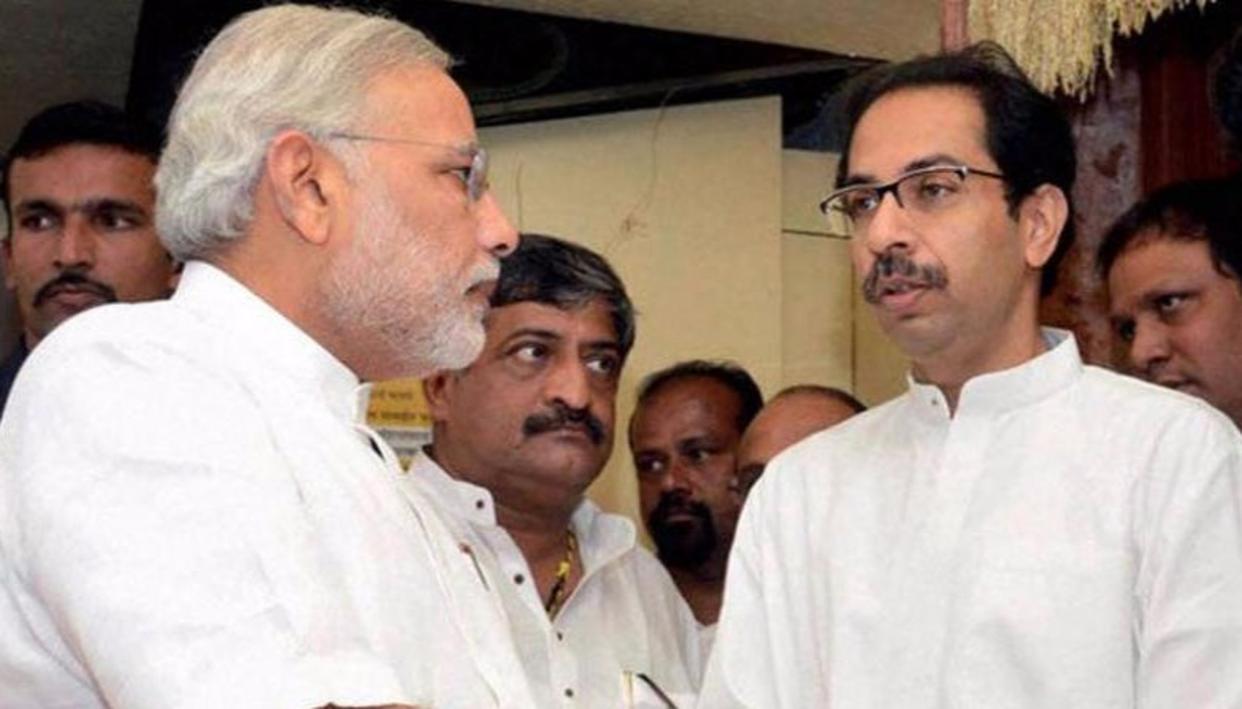 Prime Minister Narendra Modi and Shiv Sena supremo Uddhav Thackeray (PTI)