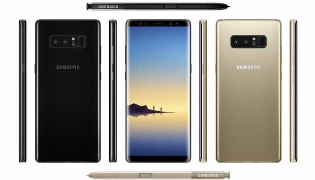 Samsung Galaxy Note8 press renders leak, shows dual camera setup and rear fingerprint sensor