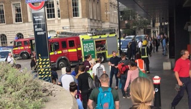 EXPLOSION AT TOWER HILL STATION IN LONDON CAUSES PANIC