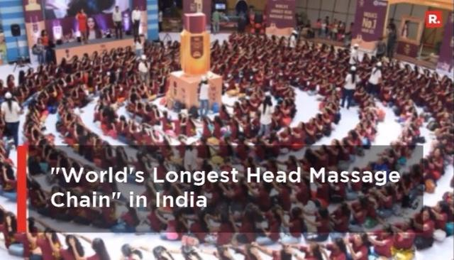 WATCH | The Record Breaking Head Massage Chain