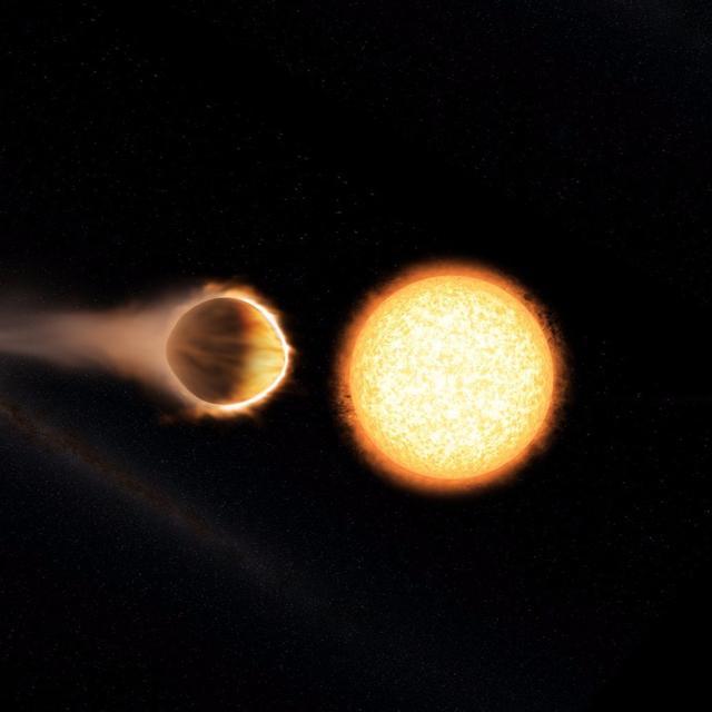 Water 'burns' on Jupiter-like giant