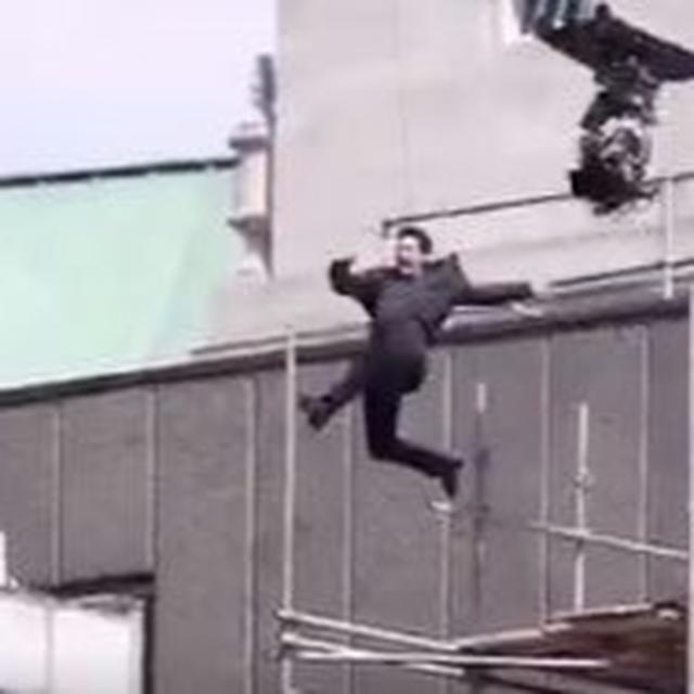 Tom Cruise injured making this Impossible jump