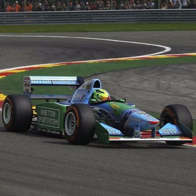 A Schumacher zooms around Spa-Francorchamps again