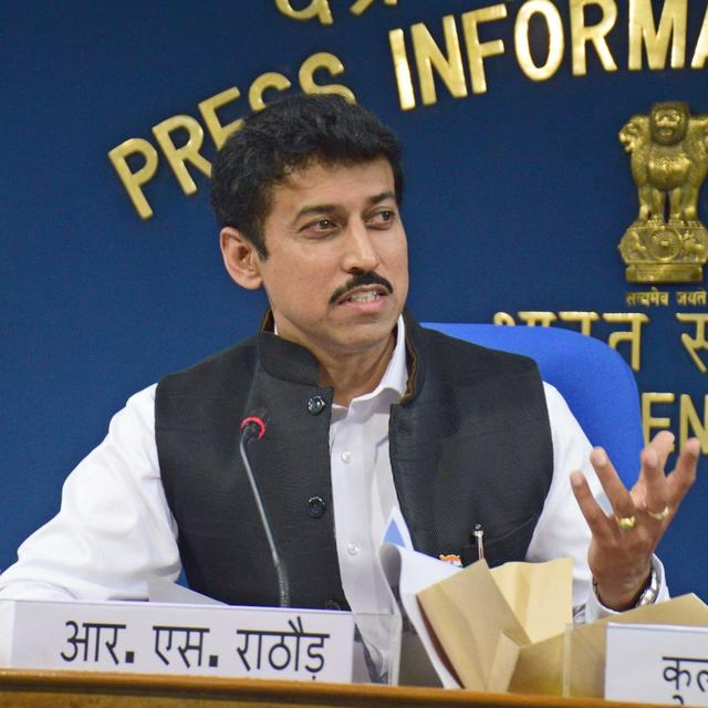 Surprise inspection at SAI office by Sports Minister Rajyavardhan Rathore