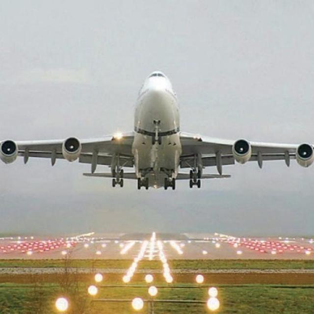 Pothole on the runway
