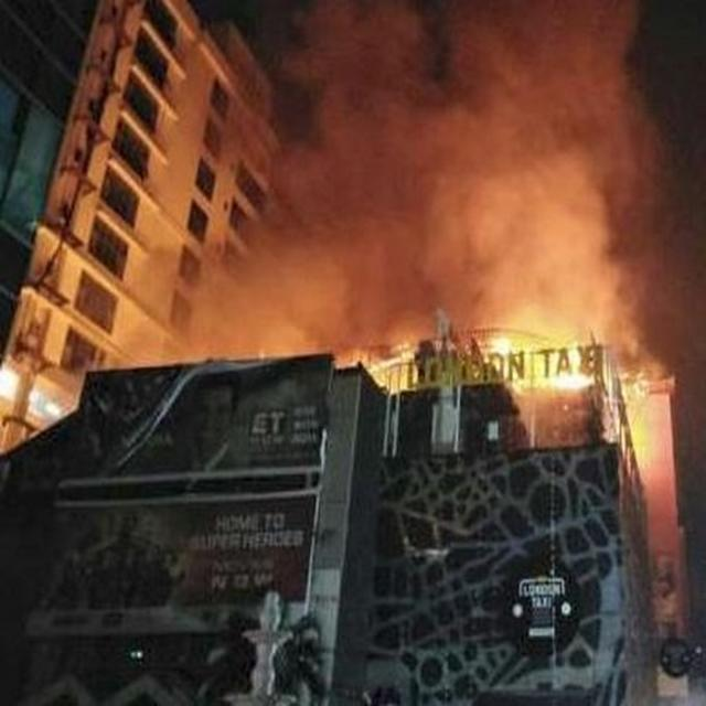 14 DEAD, 14 INJURED IN MUMBAI FIRE