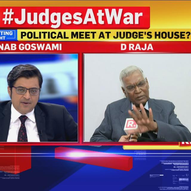WATCH: D RAJA SPEAKS TO ARNAB