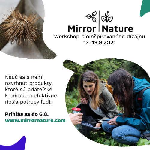 Mirror Nature - Workshop bioinšpirovaného dizajnu