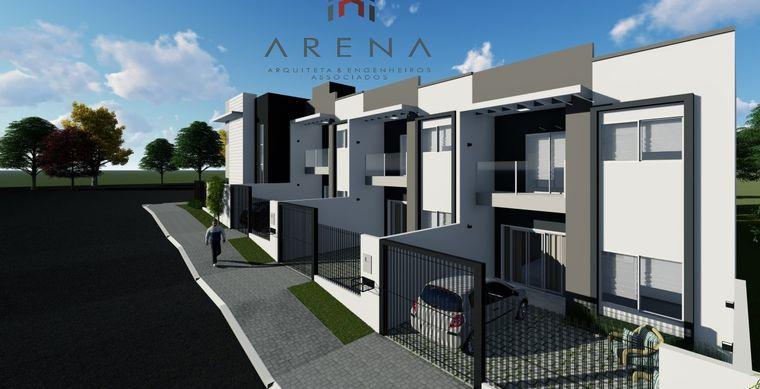 Casa em Toledo-PR no bairro Jd. Pancera - Rua Romano Feldkircher esq. Rua Pres. Deodoro da Fonseca, 292, Sobrado- UN 01