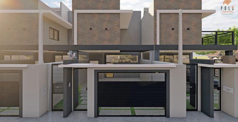 Casa em Toledo-PR no bairro Jd. Pancera - Rua Anibaldo Hoffman esq. Rua Pres. Deodoro da Fonseca, 132, Sobrado- UN 01