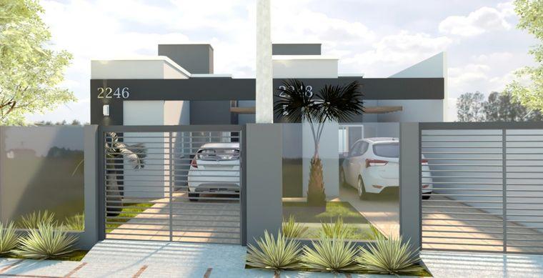 Casa em Toledo-PR no bairro Alto Bonito Pinheirinho - Rua Alfeo Sartoretto, 565, UN 02
