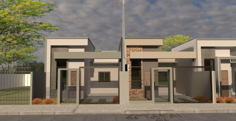 Casa em Toledo-PR no bairro Jd. Bressan  - Rua Gertrudes Ringwald Pedrini, 840, Casa Un 01