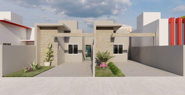 Casa em Toledo-Pr no bairro JD Europa/America  - Rua Antonio V. De Araujo, 0566, UN 02