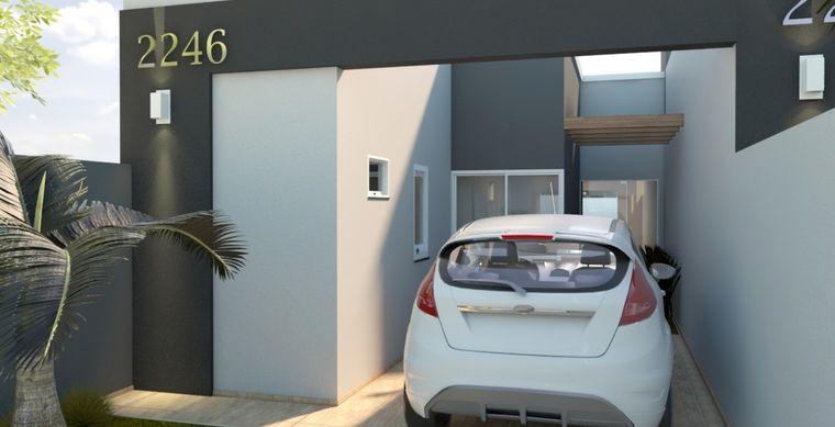 Casa em Toledo-PR no bairro Alto Bonito Pinheirinho - Rua Alfeo Sarturetto, 569, Casa Un 01