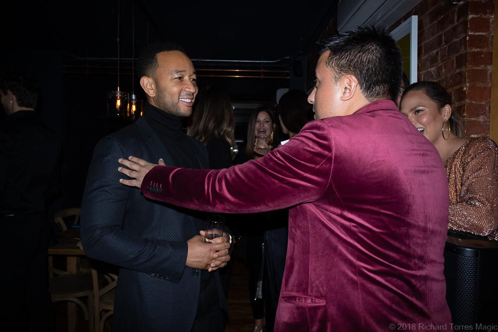 John Legend and Chrissy Teigen Magician Richard Torres