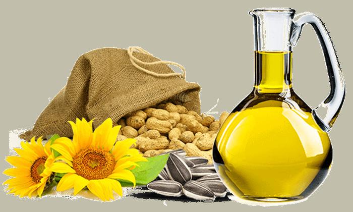 Vrček svežega jedilnega olja z semeni in sončnico