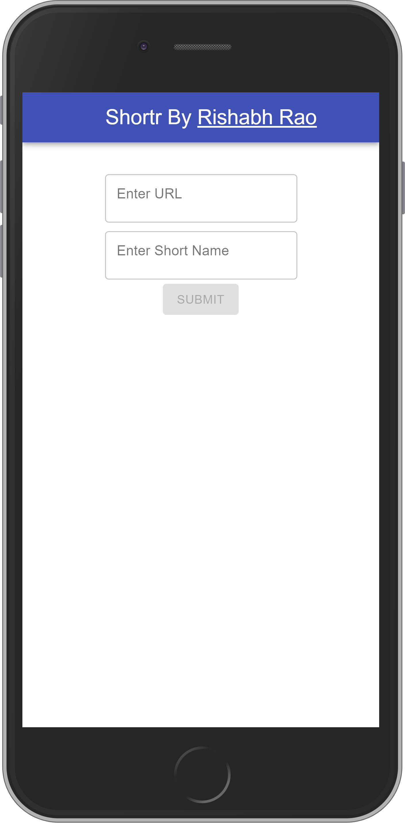 Shortr Home Page