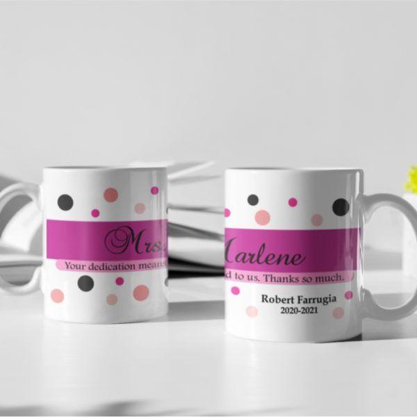 """MUG25 – """" For the teacher """" Coffee Mug-main img"""