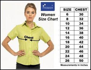 Premier Women Sizes