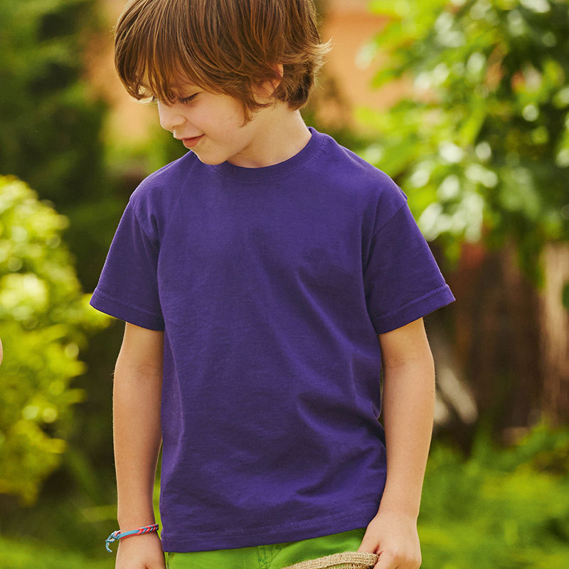 SS6B Fruit of the Loom Childrens T Shirt in White Size 14-15