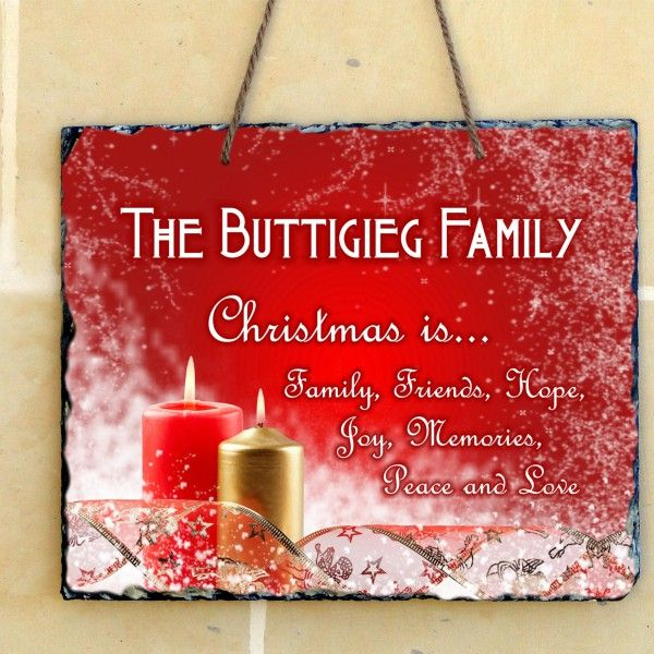 Christmas Personalized hanging slate (2 designs to choose from)
