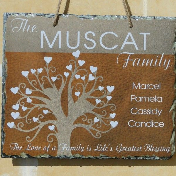 Family Tree Personalized hanging slate
