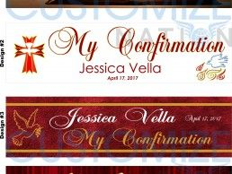 BNR01-02 – Confirmation Day Personalized Banners