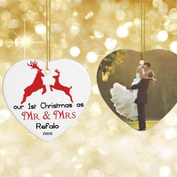 ORN09-03 – Mr & Mrs Christmas Ornament