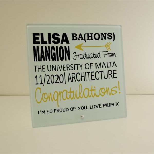 Graduation Glass Plaque