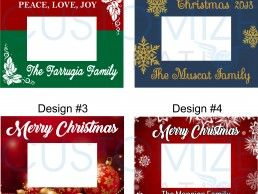 FRM05-01 – Personalized Christmas Photo Frame
